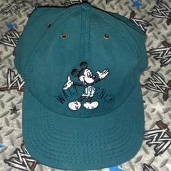 Disney Accessories   80s Walt Disney World Mickey Mouse Vintage Hat Cap   Color: Green   Size: Os