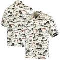 """Men's Reyn Spooner Cream/Black San Francisco Giants Vintage Short Sleeve Button-Up Shirt"""