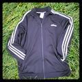 Adidas Jackets & Coats | Black Adidas Jacket Boys Or Girls!! | Color: Black/White | Size: L