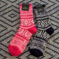 J. Crew Accessories | 2 Pairs J Crew Wool Socks | Color: Blue/Pink | Size: Os