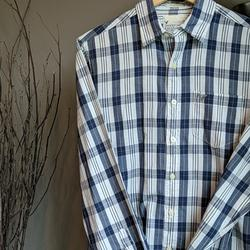 American Eagle Outfitters Shirts | American Eagle, Men'S Ls Button-Down Shirt | Color: Blue/White | Size: S