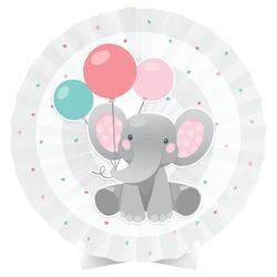 Creative Converting Enchanting Elephants Centerpiece Paper in Gray/Green/Pink | Wayfair DTC346347CNTR