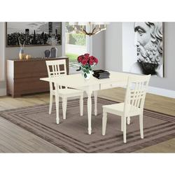 Ophelia & Co. Ashburnham Drop Leaf Solid Wood Dining Set Wood in White, Size 30.0 H in | Wayfair E16E6343B4764DA4951CBDA7D244386E