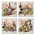 Fleur De Lis Living Reseda Wine Coaster Stoneware, Size 0.5 H x 0.63 D in   Wayfair 4F63C8B9D1144C0B810A0BFE60F08DFF