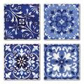 Alcott Hill® Shades Coaster Stoneware in Blue, Size 0.5 H x 0.63 D in   Wayfair 4BC9AA81B3084525BA485164CD0C083F