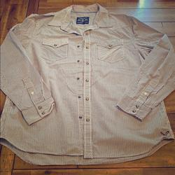 American Eagle Outfitters Shirts   American Eagle Outfitters Ls Shirt   Color: Blue/White   Size: Xl