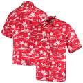 Men's Reyn Spooner Red Los Angeles Angels Vintage Short Sleeve Button-Up Shirt