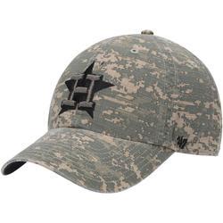 Men's '47 Camo Houston Astros Phalanx Clean Up Adjustable Hat