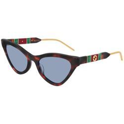 GG0597S 002 Women's Sunglasses Tortoise - Blue - Gucci Sunglasses