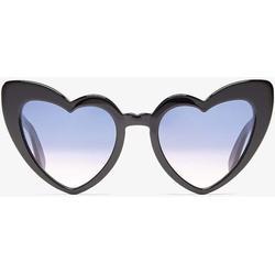 New Wave Sl 181 Loulou Sunglasses In Black Acetate And Black Lenses - Black - Saint Laurent Sunglasses
