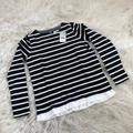 J. Crew Shirts & Tops | Nwt J. Crew Crewcuts Striped Ruffle Top | Color: Blue/White | Size: 10g