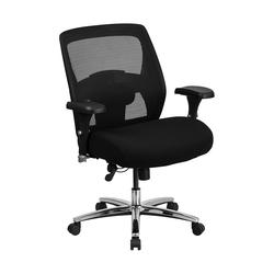 Flash Furniture HERCULES Series 24/7 Intensive Use Big & Tall 500 lb. Rated Black Mesh Executive Ergonomic Office Chair with Ratchet Back - GO-99-3-GG