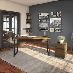 """Bush Latitude 60""""W Writing Desk with 2-Draw Mobile File Cabinet - LAT001RB"""
