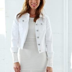 Nine West Jackets & Coats | Nine West White Denim Jacket | Color: Silver/White | Size: Various