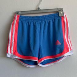 Adidas Shorts | Adidas Light Blue And Neon Jogging Shorts Medium | Color: Blue/Pink | Size: M