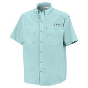 Columbia Tamiami II Short Sleeve Shirt for Men - Gulf Stream - M