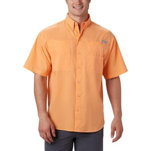 Men's Columbia PFG Tamiami II Short Sleeve Shirt, Size: XXL, Orange