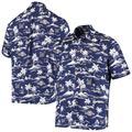 Men's Reyn Spooner Navy Milwaukee Brewers Vintage Short Sleeve Button-Up Shirt