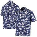 """Men's Reyn Spooner Navy Milwaukee Brewers Vintage Short Sleeve Button-Up Shirt"""