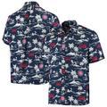"""Men's Reyn Spooner Navy Chicago Cubs Vintage Short Sleeve Button-Up Shirt"""