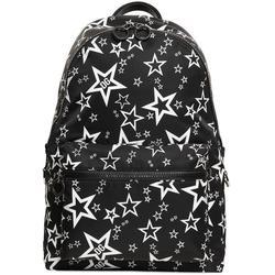 Mixed Star Print Vulcano Backpack In Nylon - Black - Dolce & Gabbana Backpacks