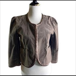 Anthropologie Jackets & Coats   Anthropologie Sanctuary Velvet Crop Jacket   Color: Brown   Size: L