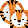 Creative Converting Tiger Party Supplies Kit for 24 GuestsHeavy Duty Paper in Orange | Wayfair DTCTGRAF2C