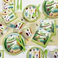 Creative Converting Bugs Party Supplies Kit for 8 Guests Heavy Duty Paper in Green | Wayfair DTC5672E2A