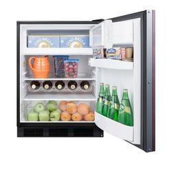 Summit Appliance Basalt 5.1 cu. ft. Convertible Mini Fridge w/ FreezerStainless Steel in Gray, Size 32.38 H x 23.63 W x 23.5 D in | Wayfair