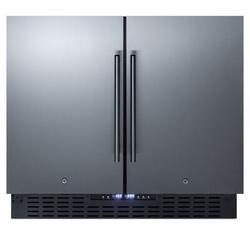 Summit Appliance 5.8 cu. ft. Convertible Undercounter Mini Fridge w/ Freezer Stainless Steel in Gray, Size 34.25 H x 35.5 W x 25.13 D in   Wayfair