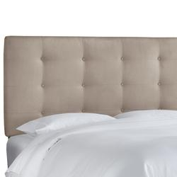 Button Tufted Headboard by Skyline Furniture in Premier Platinum (Size QUEEN)