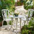 3-Pc. Rose Bistro Set by BrylaneHome in White