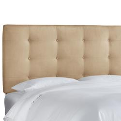 Button Tufted Headboard by Skyline Furniture in Premier Oatmeal (Size QUEEN)