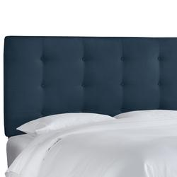 Button Tufted Headboard by Skyline Furniture in Premier Navy (Size TWIN)