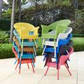 Roma All-Weather Wicker Stacking Chair by BrylaneHome in Haze