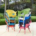 Roma All-Weather Wicker Stacking Chair by BrylaneHome in Lemon