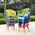 Roma All-Weather Wicker Stacking Chair by BrylaneHome in Coral