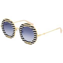GG0113S 008 Women's Sunglasses Black - Black - Gucci Sunglasses