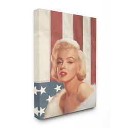 Stupell Industries Marilyn Flag Vintage Hollywood Canvas Wall Art by Jadei Graphics, Multicolor, 30X40