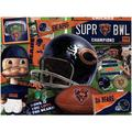 Chicago Bears Wooden Retro Series Puzzle