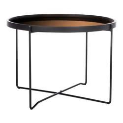 Safavieh Ruby Round Tray Top End Table, Black