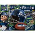 Seattle Seahawks Wooden Retro Series Puzzle