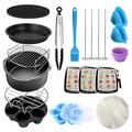 E-More Ensemble d'accessoires pour casseroles instantanées 13 pièces pour autocuiseur Compatible avec les casseroles instantanées 3,5/5/6/8 QT, comprend un support à vapeur, un moule à gâteau etc