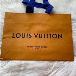 Louis Vuitton Accessories   2 For $15 Small Louis Vuitton Shopping Bag   Color: Black/Orange   Size: 11 X 7.75 Inches