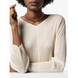 14kt Gold Beaded Choker Necklace - Pink - Loren Stewart Necklaces