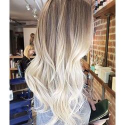YoungSee 20 Pouces 150g Lace Front Human Hair Wig Bresilien U Part Perruque Ombre Remy Lisse Cheveux Humain Brun Plus Clair a Blond Platine Deux Tons Perruque Femme Cheveux Naturel 130% Densite