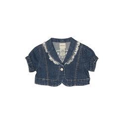Guess Jeans Denim Jacket: Blue Print Jackets & Outerwear - Size 18 Month
