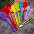 Spatule en silicone 10 pièces de couleurs en silicone ustensiles de cuisine ustensiles de cuisine set d'ustensiles de cuisine ustensiles de cuisine anti-adhésif ustensiles de cuisine (couleur : Mu Multicolore