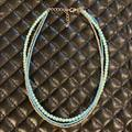 American Eagle Outfitters Jewelry   A&E Blue Boho Multi Stand Bear Necklace   Color: Blue/Silver   Size: Os