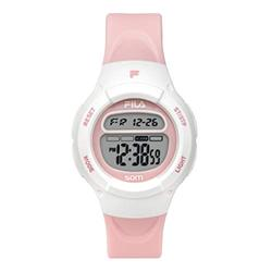 FILA Kids Digital Watch - Girls Watches Ages 7-10 - Gifts for 7 Year Old Girl - Gifts for Preteen Girls - Kids Sports Watch - Girls Digital Watch - Kids Silicone Watch - Fila Watch Pink & White